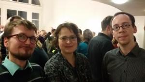 v.l.n.r. Matthias Golbeck, Julia Herzberg und Max Trecker (Foto: F. Steiner)